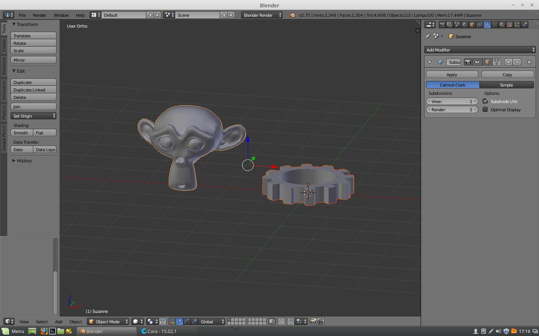 Imprimer des fichiers Blender avec l'imprimante 3D