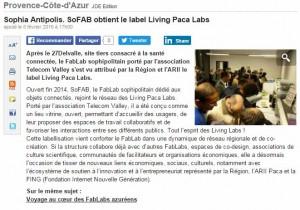 JDE : SoFAB obtient le label Living PACA Labs